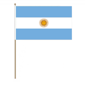 Argentina Country Hand Flag, large.